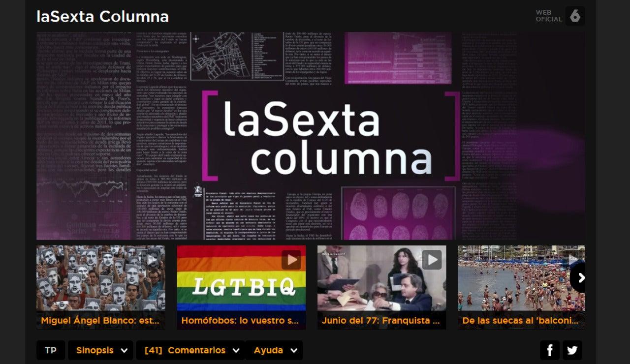 laSexta Columna en Atresplayer