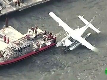 El hidroavión rescatado por los Servicios de Emergencias de Nueva York