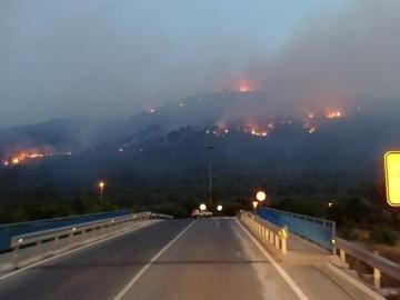 Incendio en la localidad murciana de Calasparra