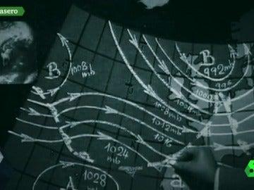 Antiguo mapa del tiempo en la televisión