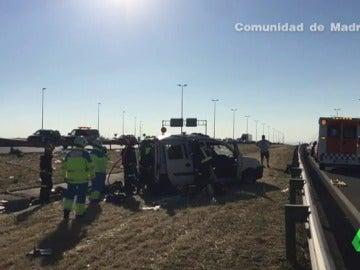 Una herida grave en un accidente de tráfico en Leganés, Madrid