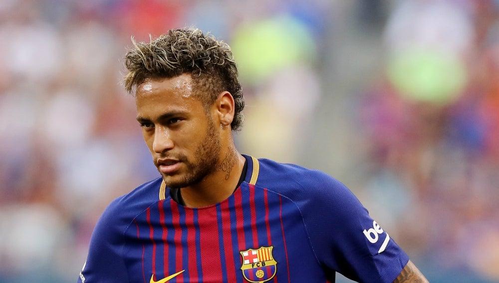 Neymar, con el Barcelona