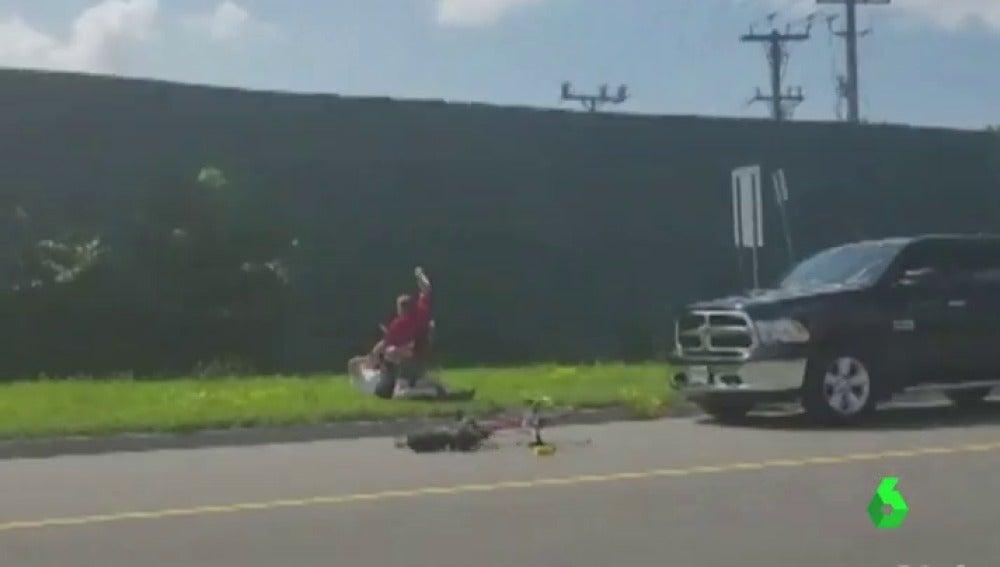 Un ciclista recibe una brutal paliza en Canadá
