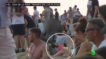 Consumo del gas de la risa en las playas