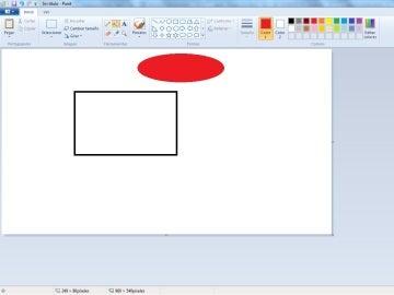 Una de las funciones de Paint