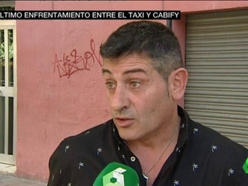 El taxista que protagonizó el enfrentamiento con un conductor de Cabify