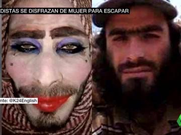 Terroristas yihadistas se maquillan para intentar huir de Mosul
