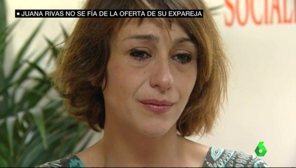 Juana Rivas no se fía de la oferta de su expareja.
