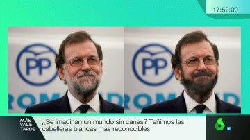Mariano Rajoy con el pelo teñido