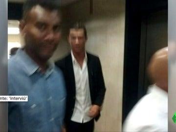 Las únicas imágenes de Cristiano Ronaldo en los juzgados