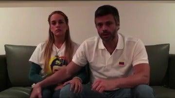 El opositor venezolano Leopoldo López anuncia el embarazo de su esposa Lilian Tintori
