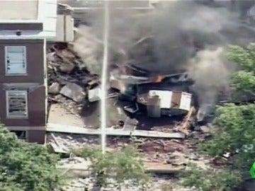 Una explosión de gas provoca el derrumbe de parte de un colegio en Mineápolis