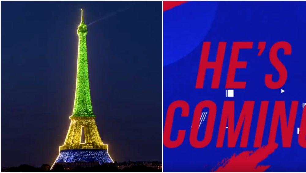La Torre Eiffel, teñida con los colores de Brasil