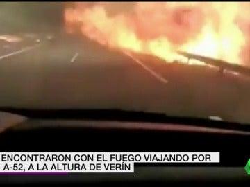 El grupo Amparanoia se mete de lleno en el fuego desatado en Ourense mientras viajaba