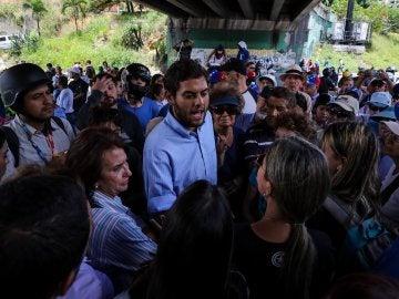 El dirigente chavista Fernando Soto Rojas en una de las manifestaciones