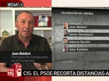 """El """"secreto"""" de Baldoví para seguir siendo el líder más valorado: """"Intento dar una imagen tranquila"""""""