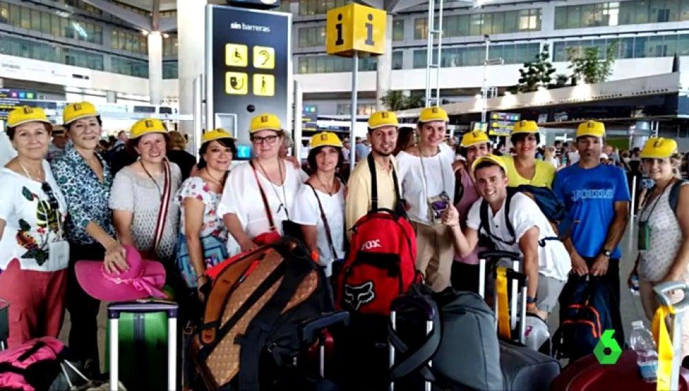 El grupo de españoles que viajó a la India