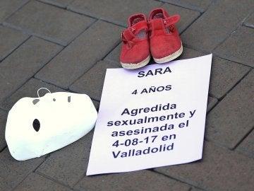 Concentración celebrada en Valladolid por la niña Sara de 4 años