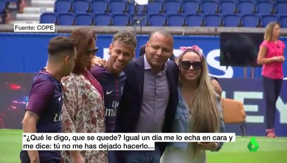 """Neymar padre: """"Intenté convencer a mi hijo de que se quedara en el Barça, pero con la actitud de la directiva cambié de opinión"""""""