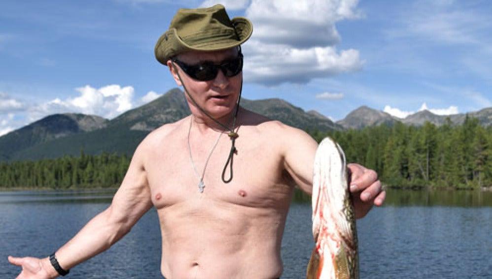 Vladimir Putin de vacaiones en Siberia