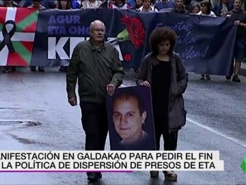 Manifestación en Galdako por la muerte del etarra Kepa del Hoyo y pedir el acercamiento de presos de ETA