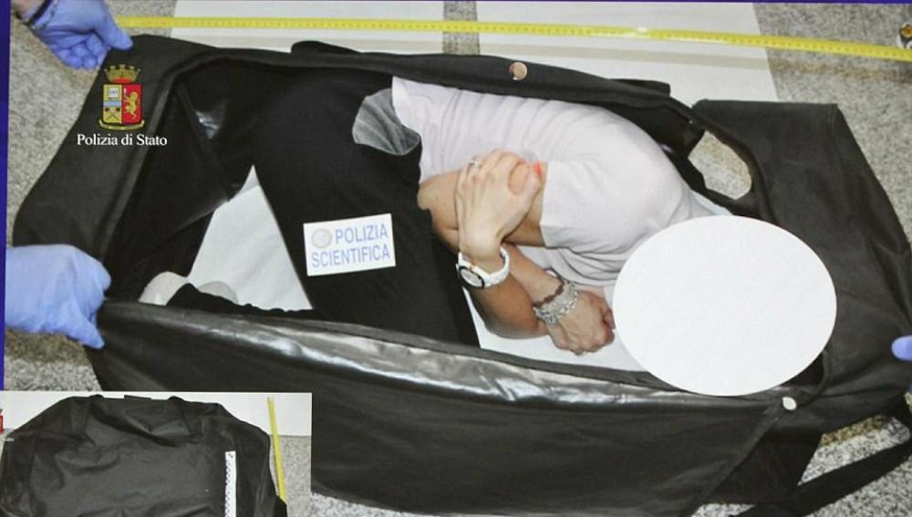 Imagen de la Policía que recrea el rapto de la modelo