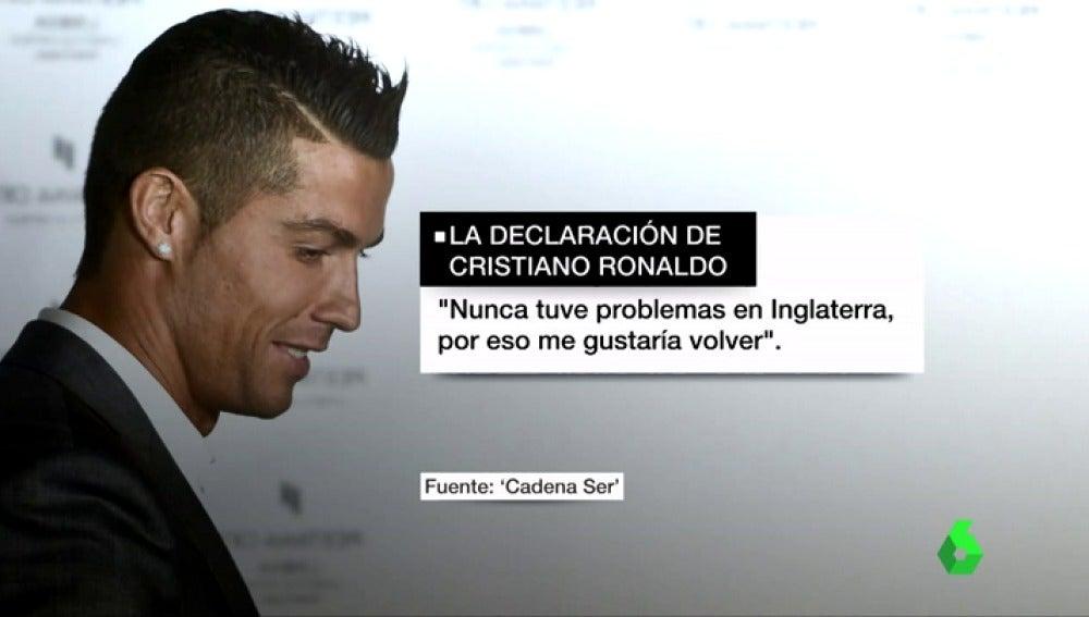 "Declaración completa de Cristiano Ronaldo: ""Nunca tuve problemas en Inglaterra, por eso me gustaría volver"""