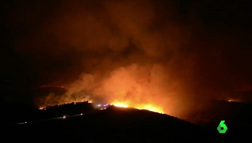 La Xunta de Galicia confirma la sospecha de que el incendio de Verín fue provocado
