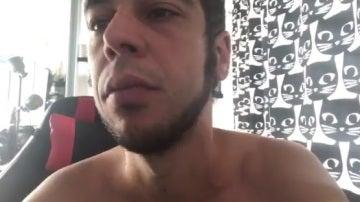 Una captura del vídeo que ha publicado el cómico canario