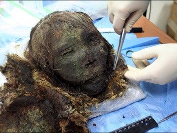 La momia encontrada en el Ártico