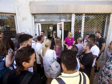 Los trabajadores de Eulen a las puertas de la asamblea