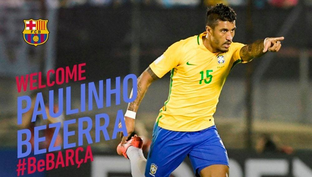 Paulinho, nuevo jugador del Barcelona