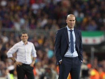 Zidane en el partido