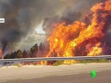 incendio de los Villares, en Jaen