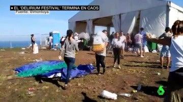 Saqueos y enfados en el festival de 'Delirium' tras el caos de la organización