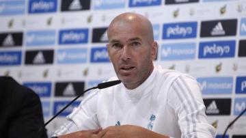 Zinedine Zidane en rueda de prensa