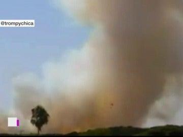 Incendio en Cartaya