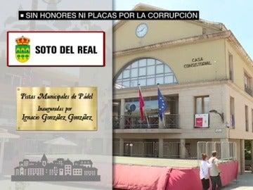 Placa retirada en Soto del Real