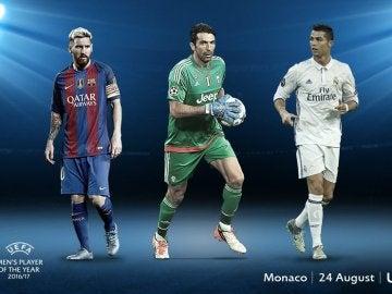 Messi, Buffon y Cristiano Ronaldo, finalistas a mejor jugador del año