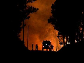 Incendio forestal en Vila de Rei, Portugal