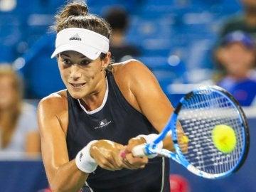 Muguruza, en su partido contra Beatriz Haddad