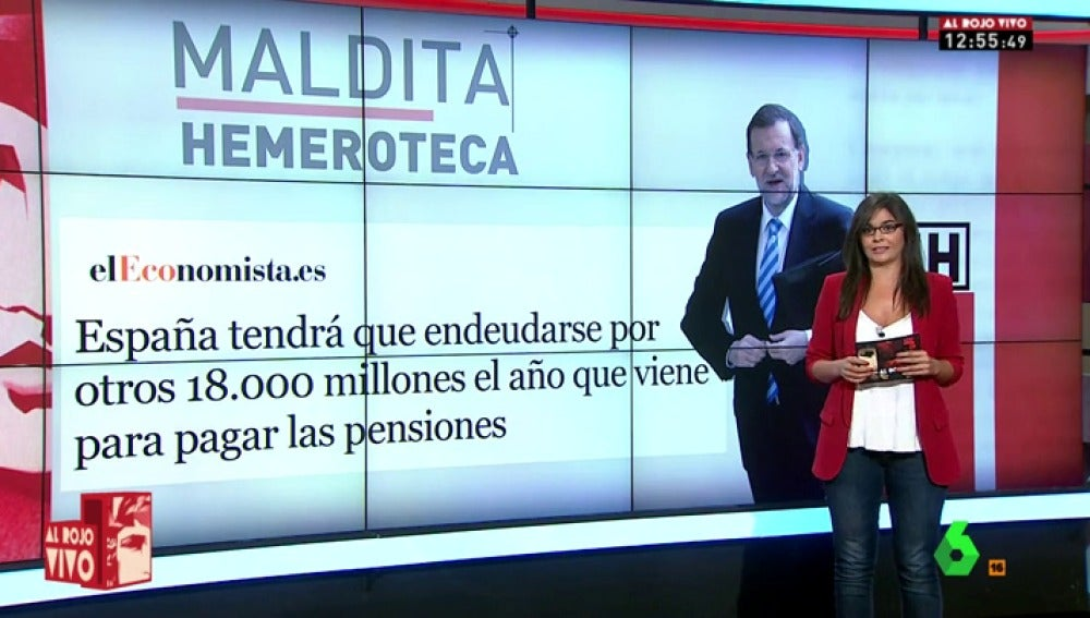 'Maldita Hemeroteca' y la hucha de las pensiones