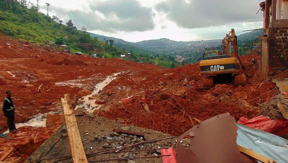 Deslizamiento de tierras en Sierra Leona