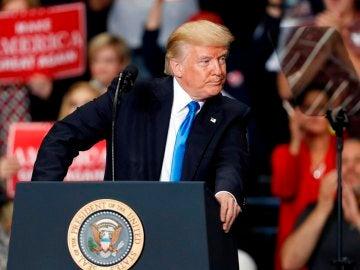 Donald Trump ante los medios (Archivo)