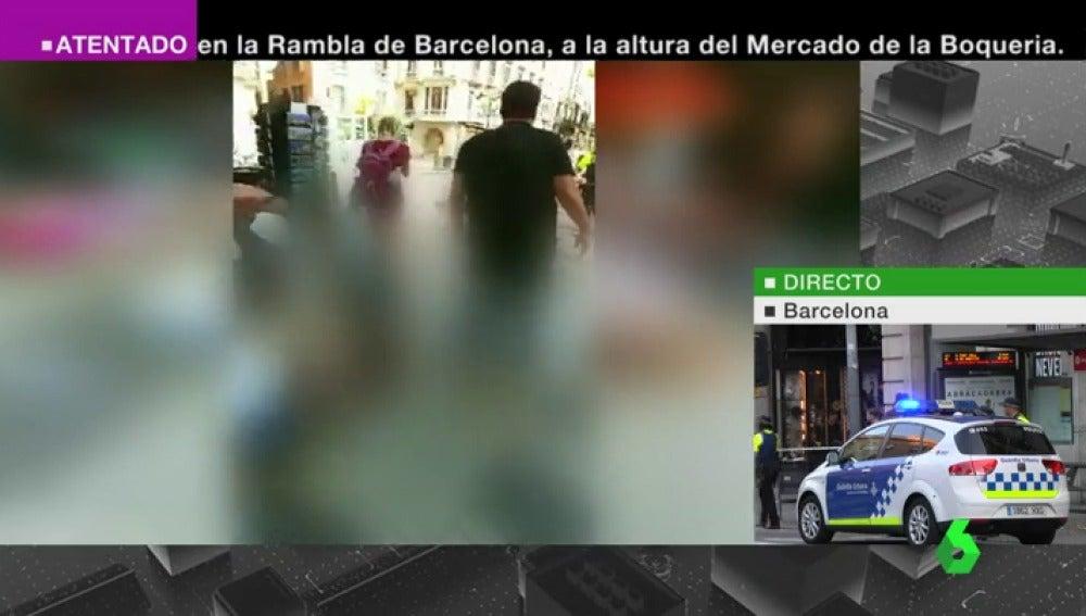 Imágenes editadas y pixeladas tras el atropello en Barcelona