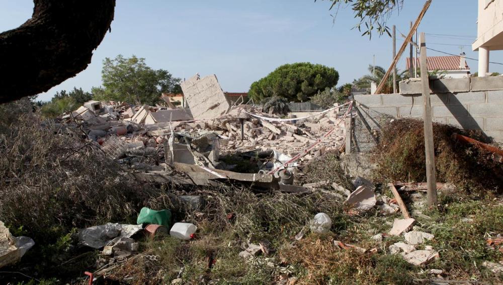 Restos de la explosión en Tarragona