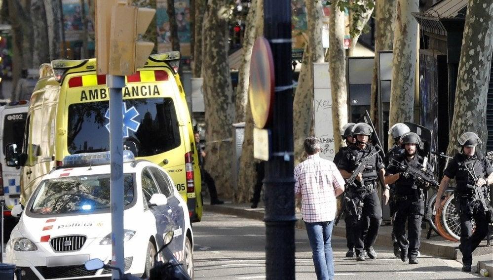 Dispositivo de seguridad en Barcelona
