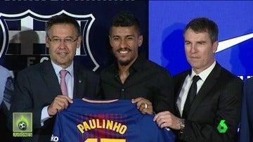 Paulinho, presentado con el Barça