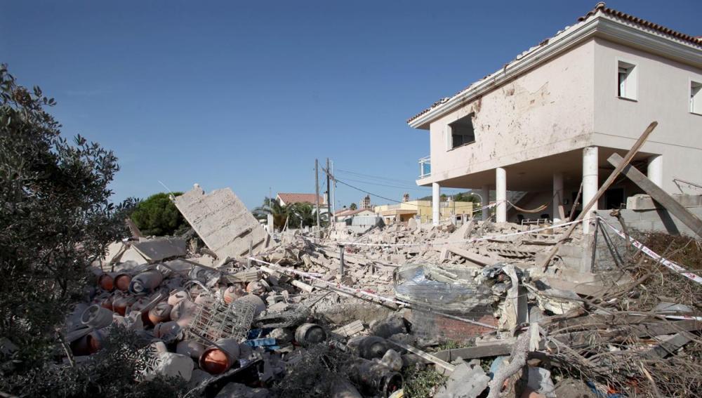 Lugar en el que se ha producido una explosión en Alcanar