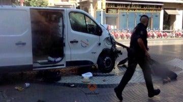 Imágenes del terror perpetrado en Barcelona